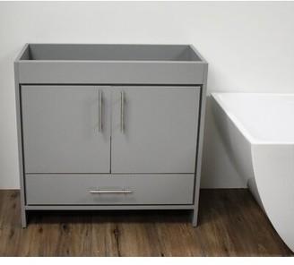 "35.37"" Free-Standing Single Bathroom Vanity Base Only MTD Vanities Base Finish: Gray"