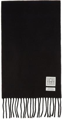 Totême Black Wool Bova Scarf
