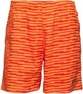 Asics Mens fuzeX Printed 7 Inch Running Shorts Orange Pop