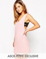 Asos Shift Dress with V-Neck & Lace Sides