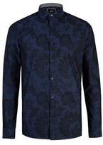 Burton Mens Navy Blue Long Sleeve Floral Print Shirt