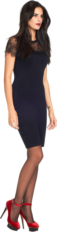 Ted Baker Indrah Lace Detail Dress Black