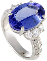 Heritage Platinum 6.41 Ct. Tw. Diamond & Tanzanite Ring