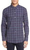 Zachary Prell Men's Bulatao Trim Fit Plaid Sport Shirt