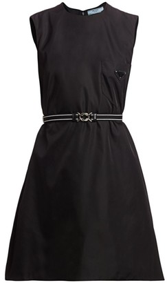 Prada Belted Patch Pocket Mini Dress