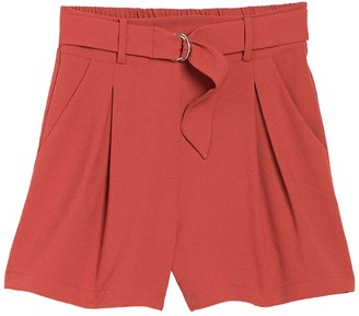 Abound Belted High Waist Pleated Shorts