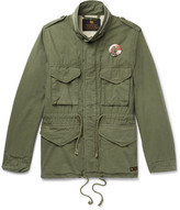 Neighborhood Printed Brushed-Cotton Ripstop Field Jacket