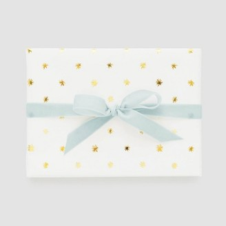 White with Gold Snow Flake Gift Wrap, Single Roll - Sugar PaperTM