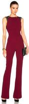 Roland Mouret Cross Double Crepe & Lace Jumpsuit