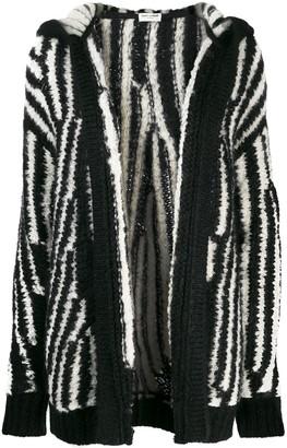 Saint Laurent Oversized Striped Cardigan