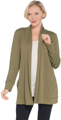 Denim & Co. Heavenly Jersey Long-Sleeve Open Front Cardigan
