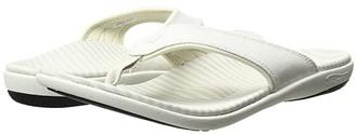 Spenco Canvas Stripe (Powder) Women's Sandals