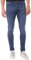 Brave Soul Mens Donte Skinny Jeans Long Leg Blue Denim