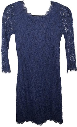 Diane von Furstenberg Navy Lace Dress for Women