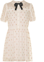 Saint Laurent Ice cream-embroidered georgette dress