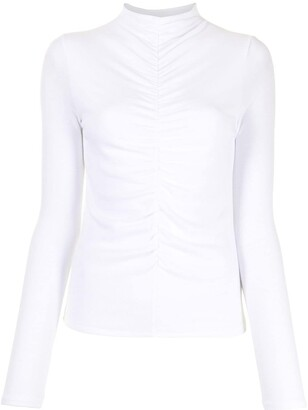 Veronica Beard Theresa ruched front top