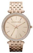 Michael Kors Darci Pave Rose Goldtone Stainless Steel Bracelet Watch