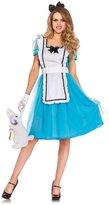 Leg Avenue Women's Classic Alice Costume, Blue/White