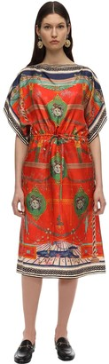 Gucci Printed Silk Twill Midi Dress