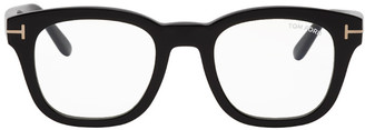 Tom Ford Black Blue Block Soft Square Glasses