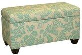 Skyline Furniture Walnut Hill Storage Bench in Canary Robin Fabric