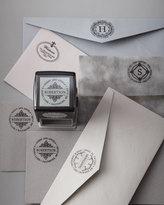Three Designing Women Circle Initial Address Stamp