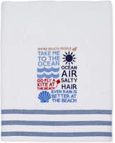 "Avanti Beach Words 27"" x 52"" Bath Towel"