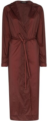 Kassl Editions Fluid belted trench coat