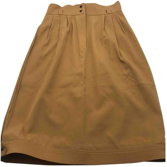 Gucci Camel Wool Skirt for Women Vintage
