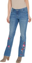 Laurie Felt Regular Classic Denim Embroidered Boot-Cut Jeans