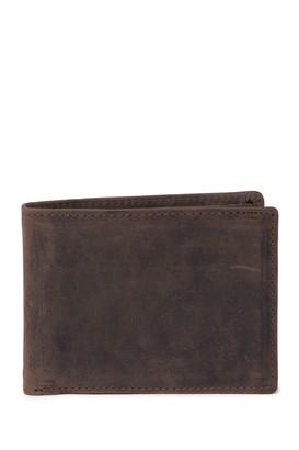 English Laundry Crazy Horse Leather Bi-Fold Wallet