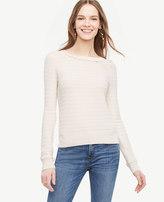 Ann Taylor Scallop Textured Sweater