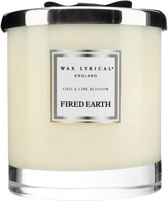 Sophie Conran For Portmeirion Fired Earth Chai and Lime Blossom Large Two-Wick Candle