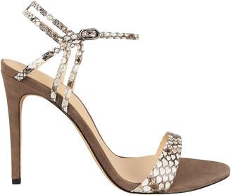 Alexandre Birman Sirena 100 Python-Embossed Sandals