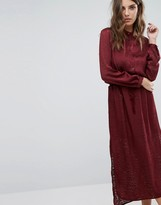 Sisley Maxi Dress in Burn Out Animal With Tie Waist