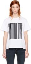 Alexander Wang White Boxy Crewneck Barcode T-Shirt