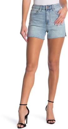 BCBGeneration High Rise Raw Hem Shorts
