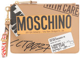 Moschino Parcel printed clutch