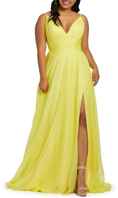 Mac Duggal Ruched Satin Gown
