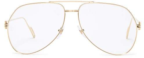Cartier Eyewear - Premiere De Aviator Glasses - Mens - Gold