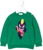 Fendi Fendirumi intarsia knit jumper