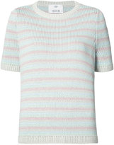 Allude stripe knitted top
