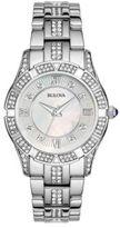 Bulova Ladies' Swarovski Crystal Stainless Steel Watch, 96L116