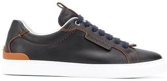 Ermenegildo Zegna Contrast Stitching Low-Top Sneakers