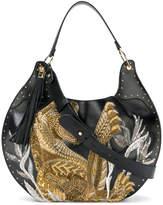 Balmain Domaine 50 tiger embroidered bag