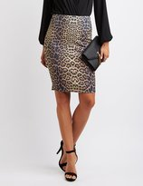 Charlotte Russe Leopard Pencil Skirt