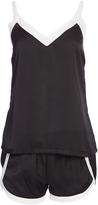 Catherine Malandrino Black & White Camisole & Shorts Pajama Set