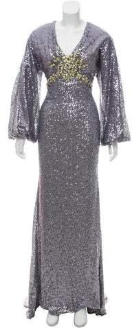 Mac Duggal Sequin Embellished Evening Dress
