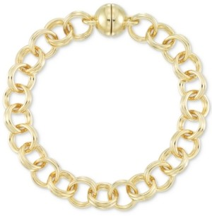 Signature Gold Double Link Chain Bracelet in 14k Gold over Resin
