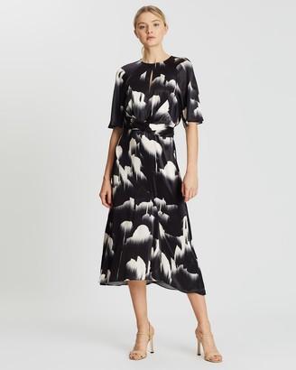 Reiss Glacier Print Dress